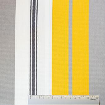 Tissu toile Dralon outdoor double enduction jaune gris blanc