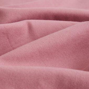 Tissu flanelle coton bio rose foncé