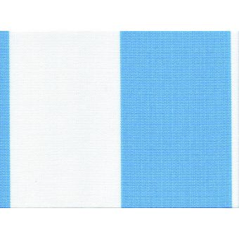 Tissu Polyskin outdoor anti-uv traitement Teflon rayé beige bleu ciel
