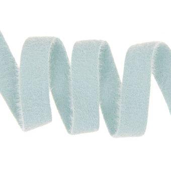 Ruban effet peluche doudou bleu ciel 25mm