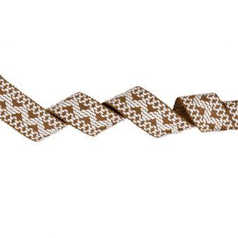 Galon tissé marron et blanc 3,1 cm