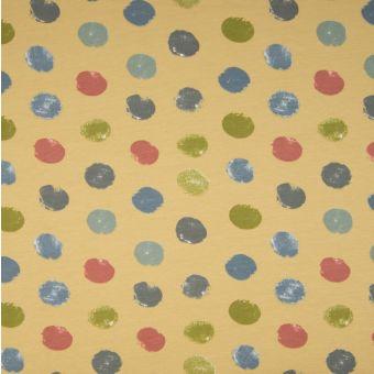 Tissu molleton sweat French Terry coton bio pois jaune
