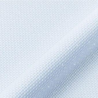 Toile aïda métallisée 5,5points/cm bleu ciel au mètre