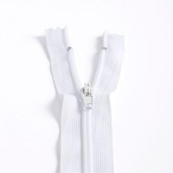 Fermeture polyester non séparable à glissière - Blanc