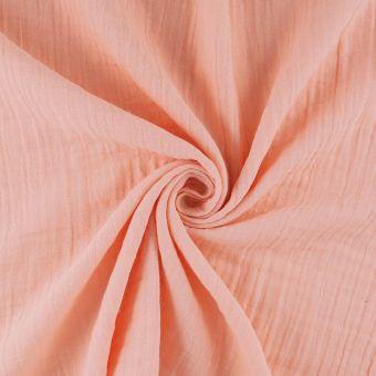 Tissu à draps double gaze rose