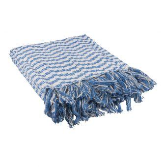Plaid chevron bleu