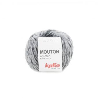 Pelote de fil à tricoter Katia Mouton gris