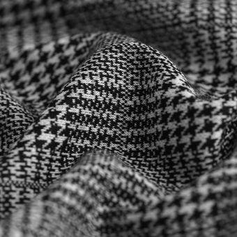 Tissu gabardine polyviscose Prince de Galles