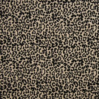 Tissu velours éponge bio léopard marron