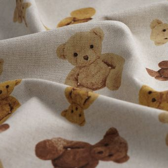 Tissu coton épais beige nounours