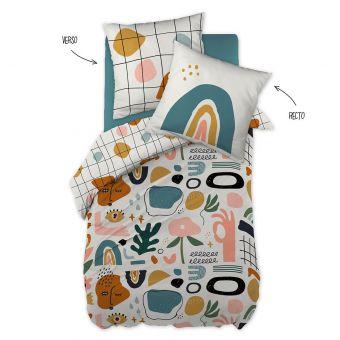 Parure de lit enfant motifs abstraits