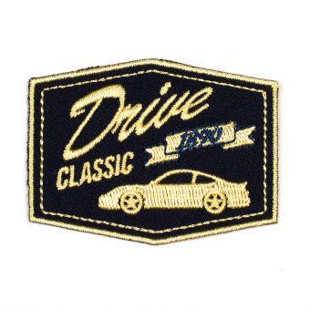 Écusson thermocollant Drive Classic noir