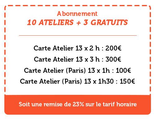 10 ateliers + 3 gratuits