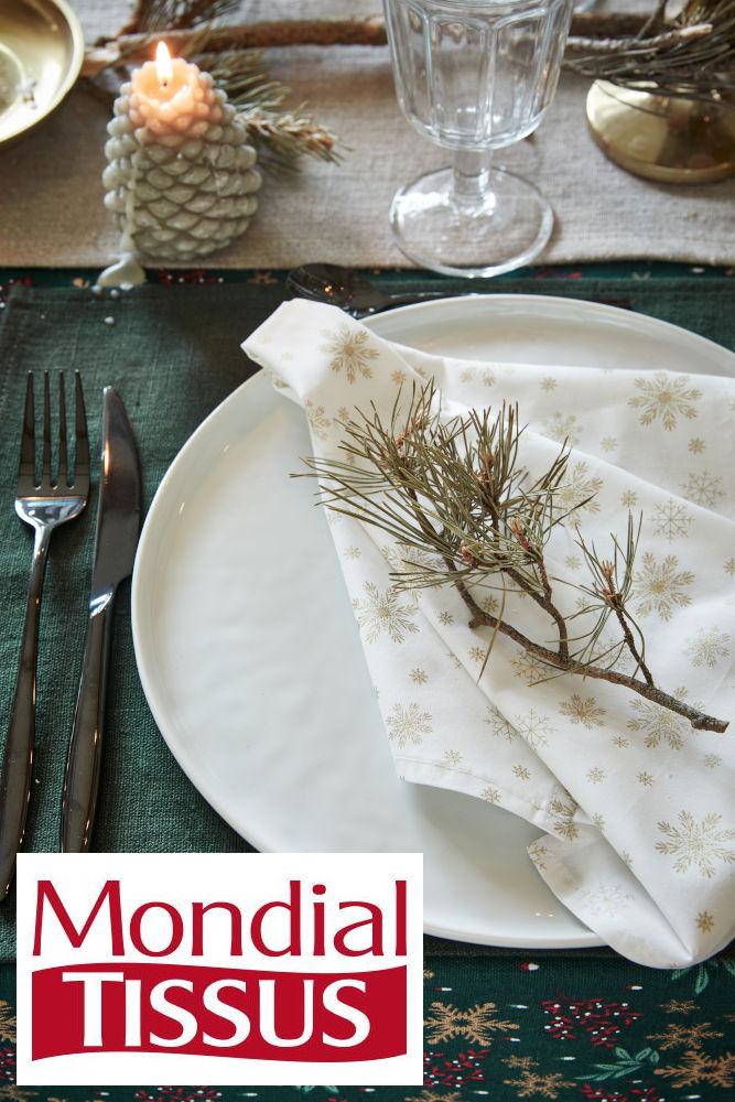 tissu de Noël Woodland