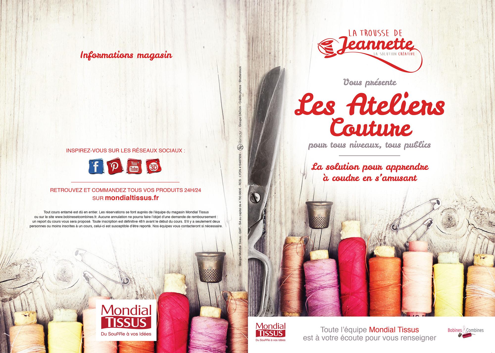 Flyer des ateliers couture