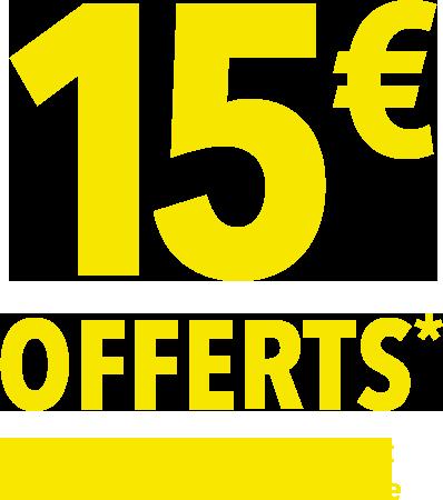 15€ offerts