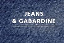 Jeans et gabardine